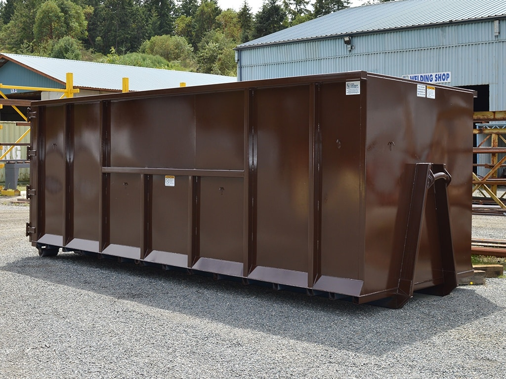 Brown Stud Wall Roll Off Container